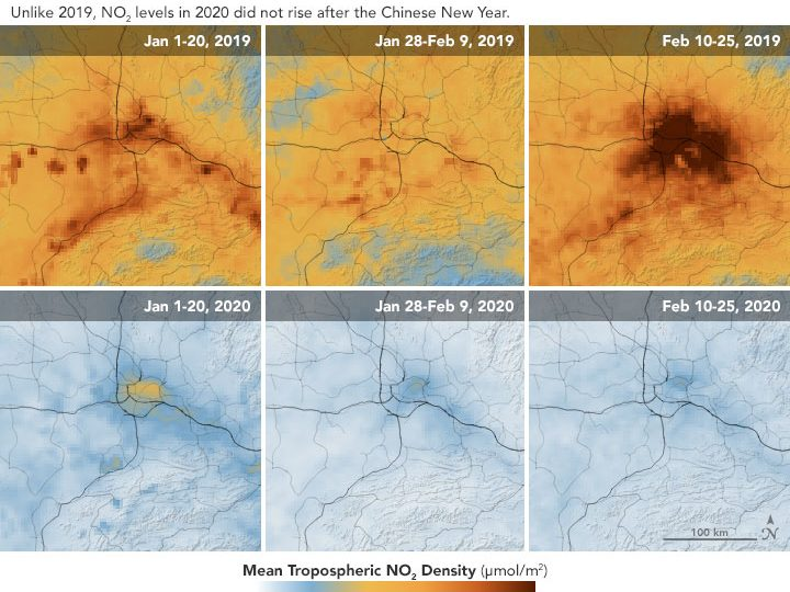 Локдаунът пречиства атмосферата, установи НАСА